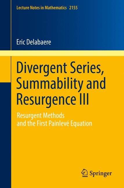 Cover of 'Divergent Series, Summability and Resurgence III'
