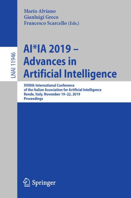 Cover of 'AI*IA 2019 – Advances in Artificial Intelligence'