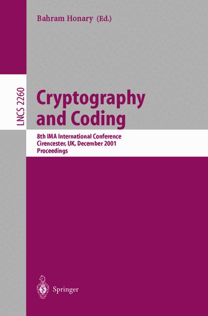 Cover of 'Cryptography and Coding'