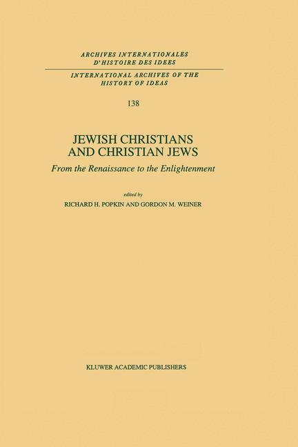 Cover of 'Jewish Christians and Christian Jews'