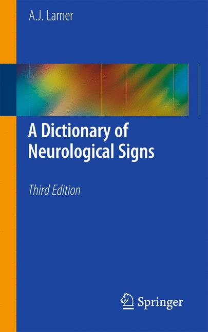 Cover of 'A Dictionary of Neurological Signs'