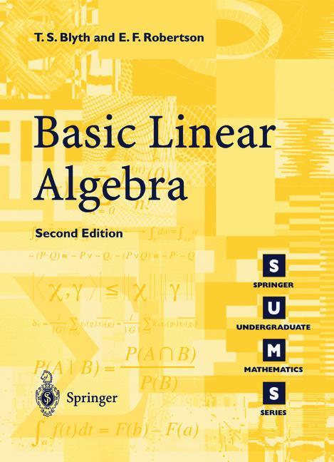 Cover of 'Basic Linear Algebra'