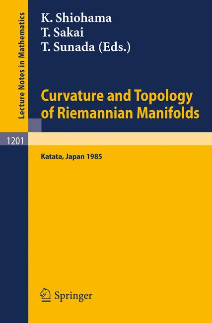 Cover of 'Curvature and Topology of Riemannian Manifolds'