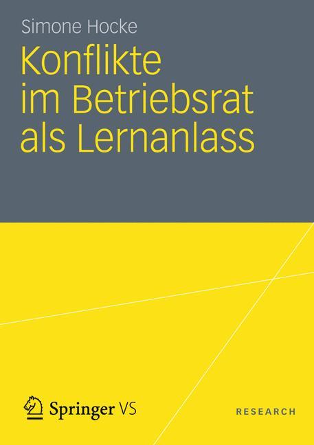 Cover of 'Konflikte im Betriebsrat als Lernanlass'