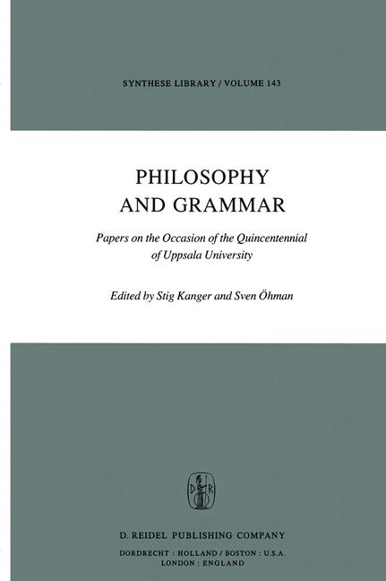 Cover of 'Philosophy and Grammar'