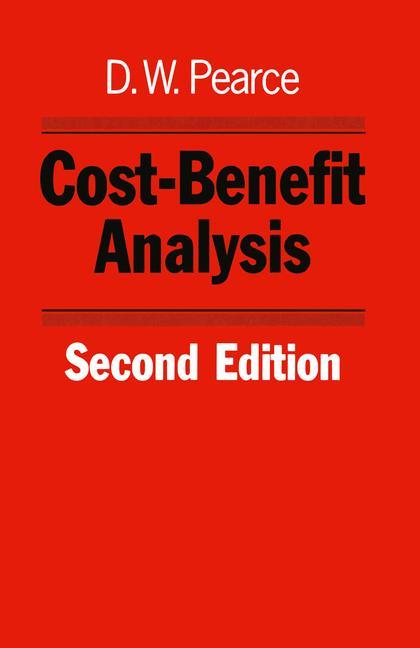 Cover of 'Cost-benefit analysis'