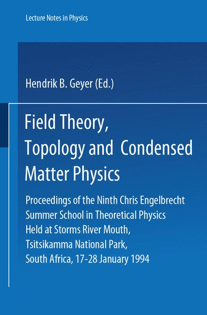 Cover of 'Field Theory, Topology and Condensed Matter Physics'