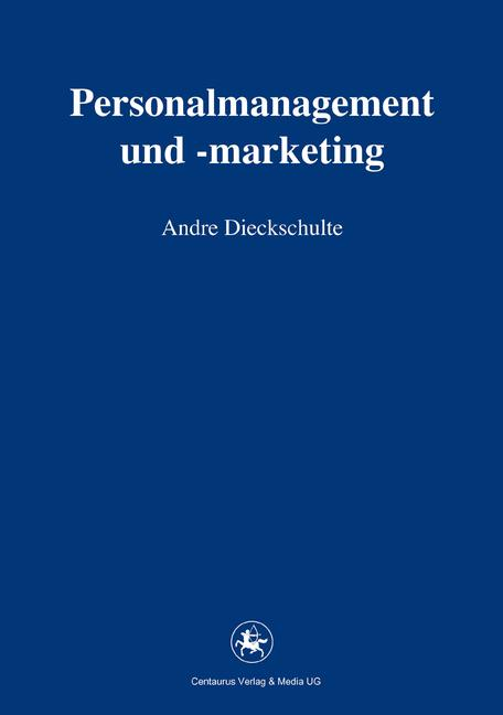 Cover of 'Personalmanagement und -marketing'