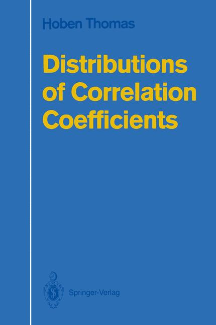 Cover of 'Distributions of Correlation Coefficients'