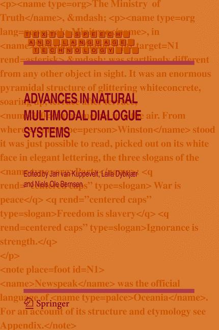Cover of 'Advances in Natural Multimodal Dialogue Systems'