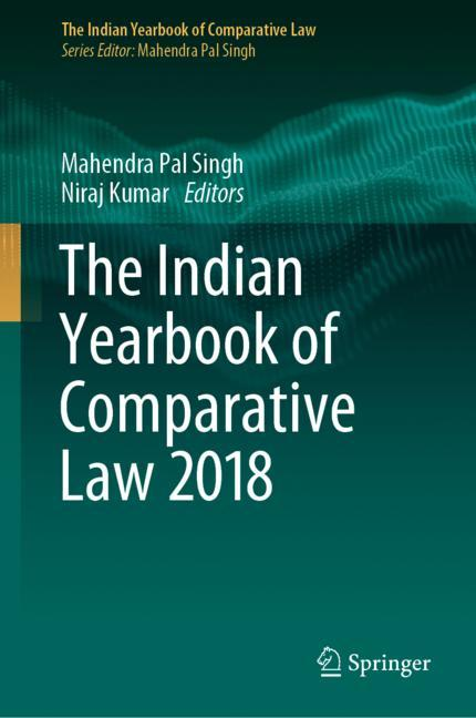Cover of 'The Indian Yearbook of Comparative Law 2018'