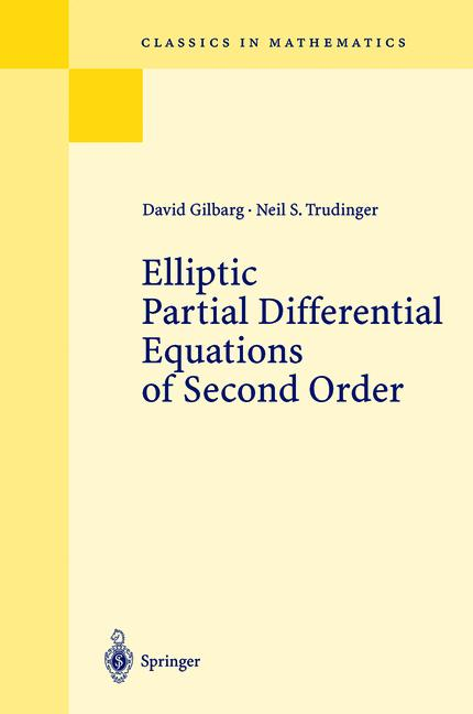 Cover of 'Elliptic Partial Differential Equations of Second Order'