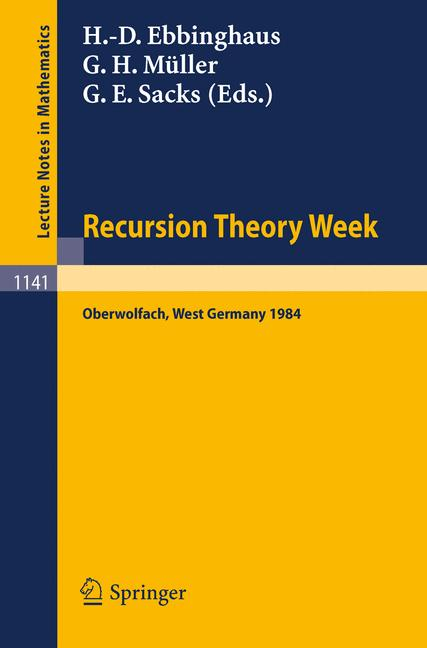 Cover of 'Recursion Theory Week'