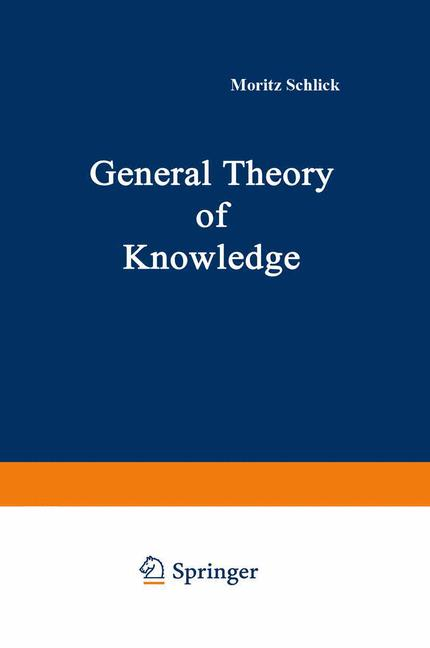 Cover of 'General Theory of Knowledge'