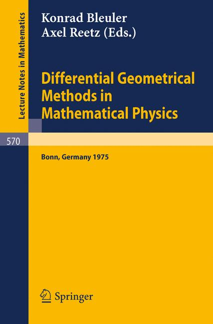 Cover of 'Differential Geometrical Methods in Mathematical Physics'