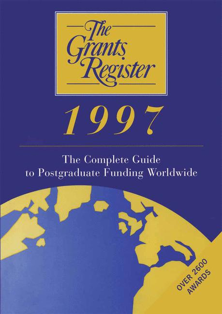 Cover of 'The Grants Register 1997'