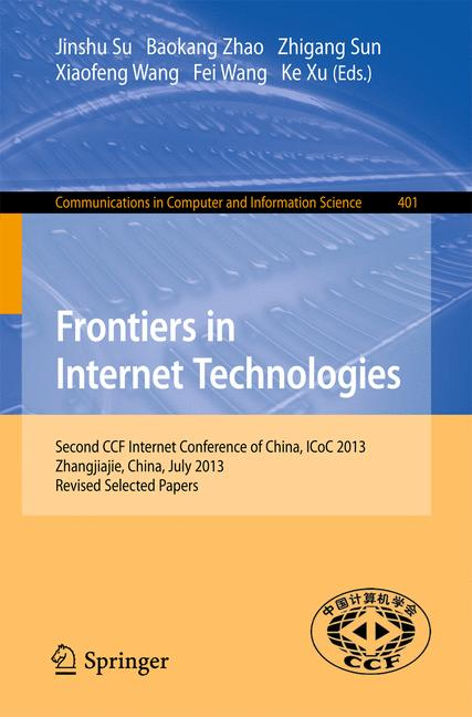 Cover of 'Frontiers in Internet Technologies'