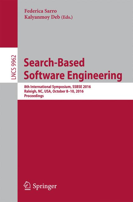 Cover of 'Search Based Software Engineering'