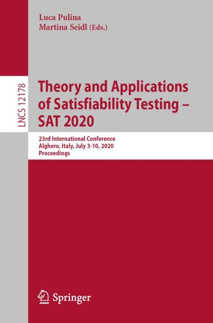 Cover of 'Theory and Applications of Satisfiability Testing – SAT 2020'