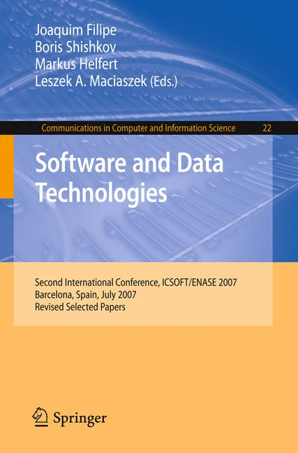 Cover of 'Software and Data Technologies'