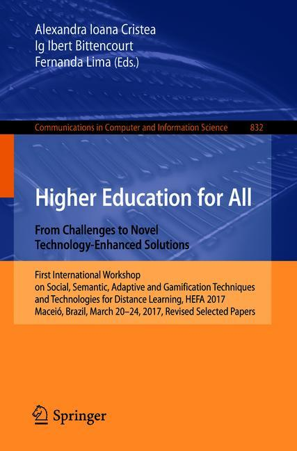 Cover of 'Higher Education for All. From Challenges to Novel Technology-Enhanced Solutions'