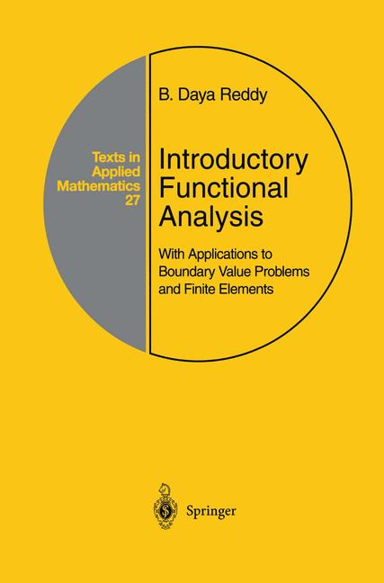 Cover of 'Introductory Functional Analysis : With Applications to Boundary Value Problems and Finite Elements'