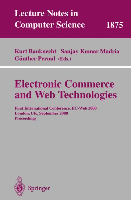 Cover of 'Electronic Commerce and Web Technologies'