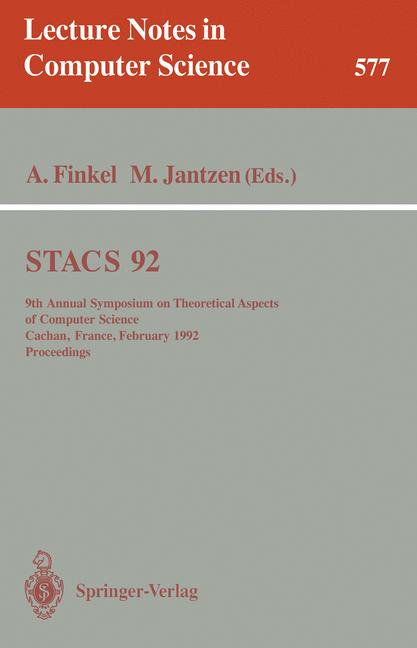 Cover of 'STACS 92'