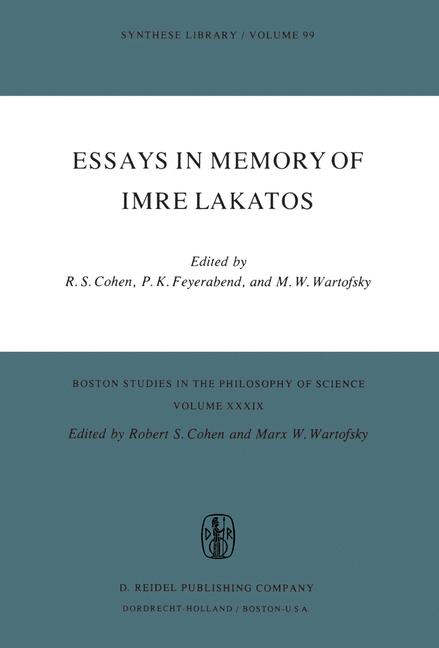 Cover of 'Essays in Memory of Imre Lakatos'