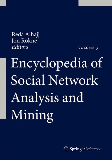 Cover of 'Encyclopedia of Social Network Analysis and Mining'