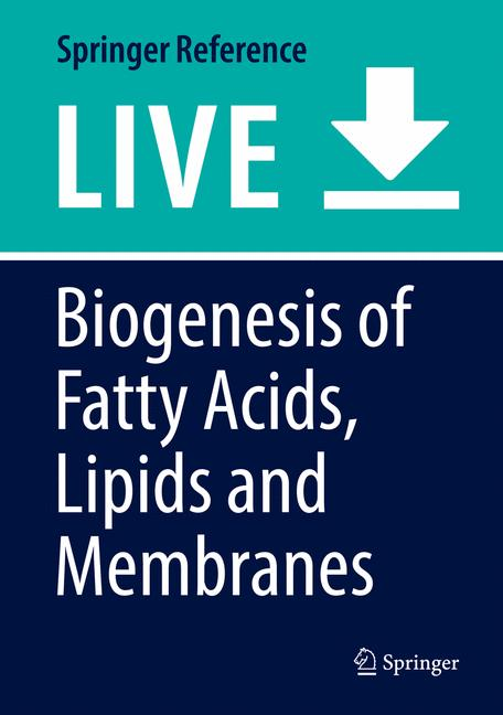 Cover of 'Biogenesis of Fatty Acids, Lipids and Membranes'
