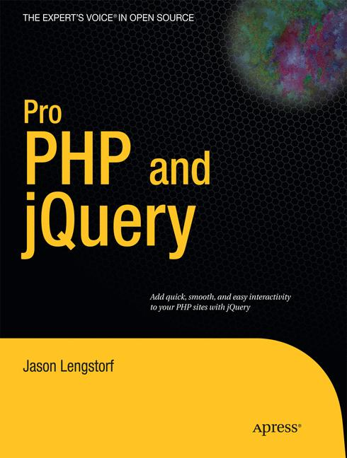 Cover of 'Pro PHP and jQuery'