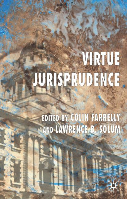 Cover of 'Virtue jurisprudence'