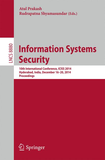 Cover of 'Information Systems Security'