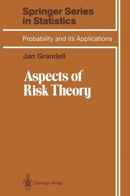 Cover of 'Aspects of Risk Theory'