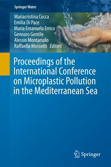Cover of 'Proceedings of the International Conference on Microplastic Pollution in the Mediterranean Sea'