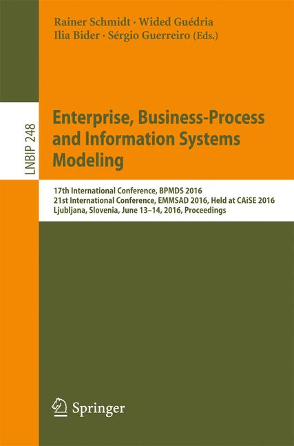 Cover of 'Enterprise, Business-Process and Information Systems Modeling'