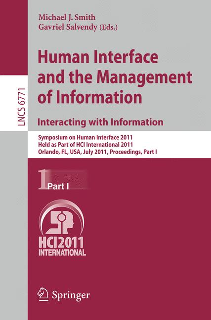 Cover of 'Human Interface and the Management of Information. Interacting with Information'