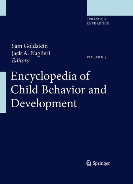 Cover of 'Encyclopedia of Child Behavior and Development'
