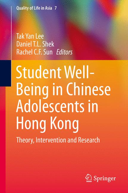 Cover of 'Student Well-Being in Chinese Adolescents in Hong Kong'