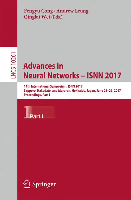 Cover of 'Advances in Neural Networks - ISNN 2017'