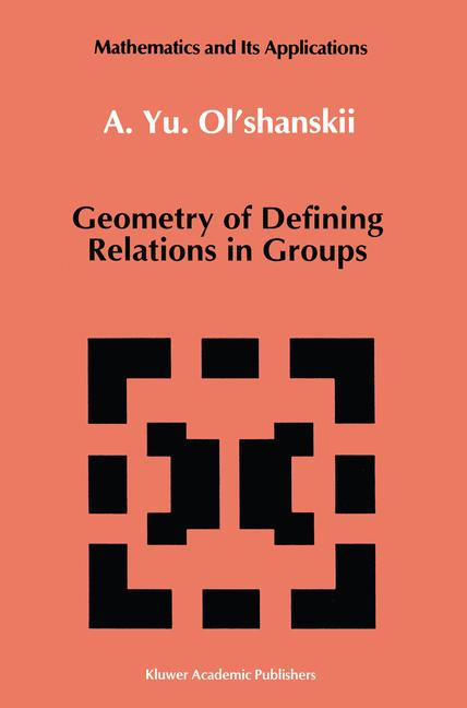 Cover of 'Geometry of Defining Relations in Groups'