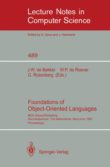 Cover of 'Foundations of Object-Oriented Languages'