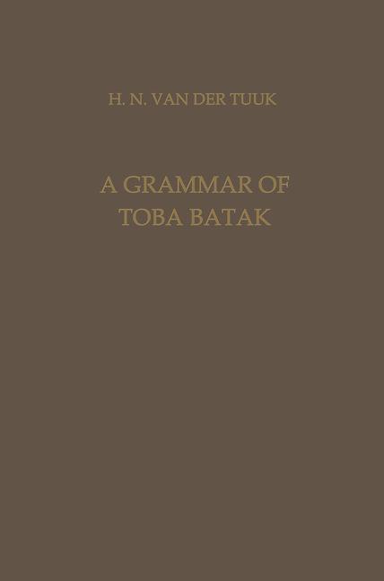 Cover of 'A Grammar of Toba Batak'