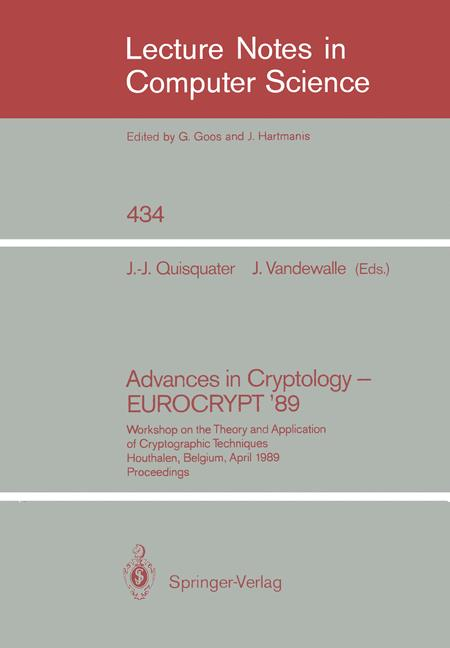 Cover of 'Advances in Cryptology — EUROCRYPT '89'