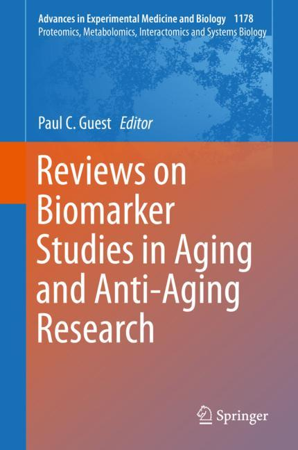 Cover of 'Reviews on Biomarker Studies in Aging and Anti-Aging Research'