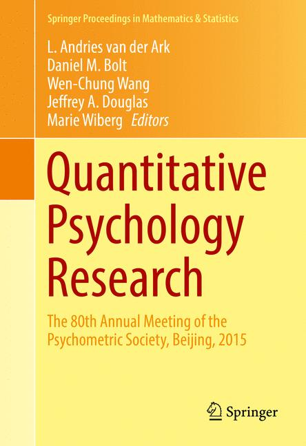 Cover of 'Quantitative Psychology Research'