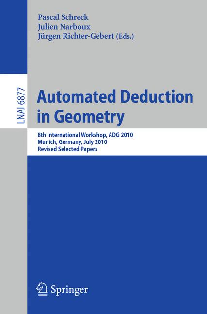 Cover of 'Automated Deduction in Geometry'