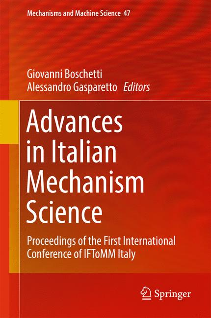 Cover of 'Advances in Italian Mechanism Science'