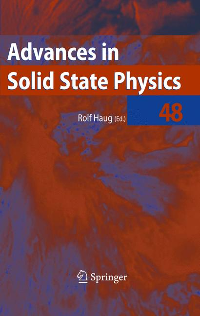 Cover of 'Advances in Solid State Physics 48'